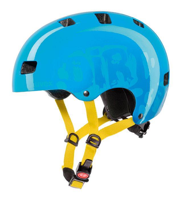 Orzeszek Uvex Kid 3 posiada regulację w zakresie 51 – 55 cm za pomocą pokrętła, 10 dużych otworów wentylacyjnych, miękkie paski, klamerkę z regulacją głębokości wpięcia, a waży ok. 350 g. Kask sprawdzi się zarówno na rowerze, hulajnodze jak i rolkach. http://blog.aktywnysmyk.pl/2013/04/nowosc-kask-uvex-kid-3/