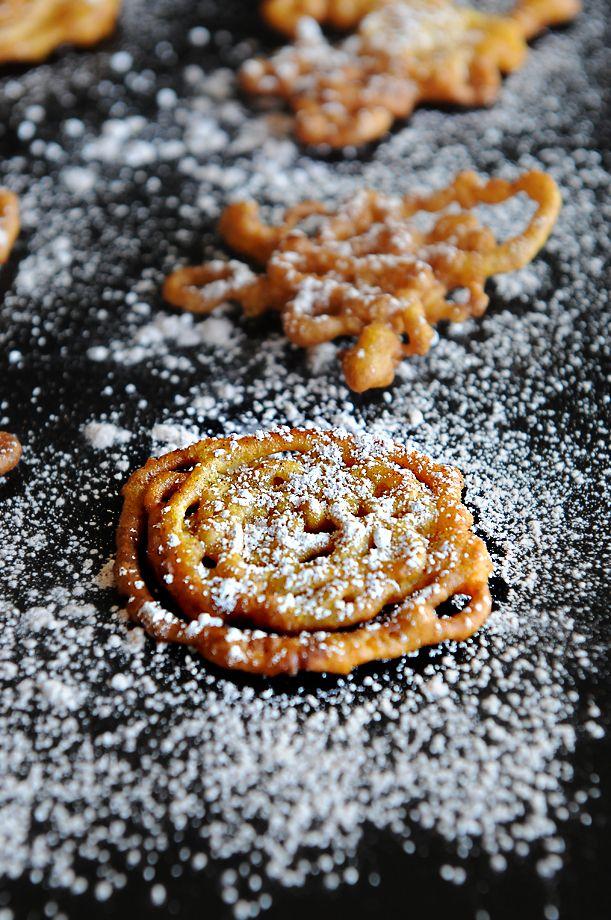 Bite Size Pumpkin Funnel Cake Crispies from @Kristen @Kristen @DineandDish