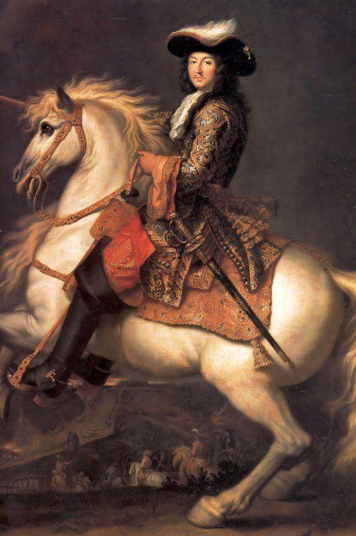 Louis XIV à cheval, roi de France et de Navarre (1638-1715), par René-Antoine Houasse, XVIIe siècle