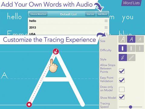 Appen ett system som gör att du kan följa användarens progression via profiler. Du kan lägga till egna ordlistor!