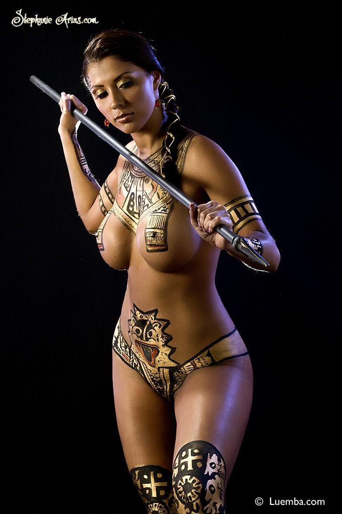 paint body Sexy egyptian