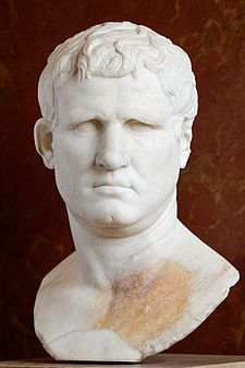 Marcus Vipsanius Agrippa  64/62 BC – 12 BC) was a Roman statesman, general and architect. He was a close friend, son-in-law, and lieutenant to Octavian and was responsible for the construction of some of the most notable buildings in the history of Rome and for important military victories, most notably at the Battle of Actium in 31 BC against the forces of Mark Antony and Cleopatra.