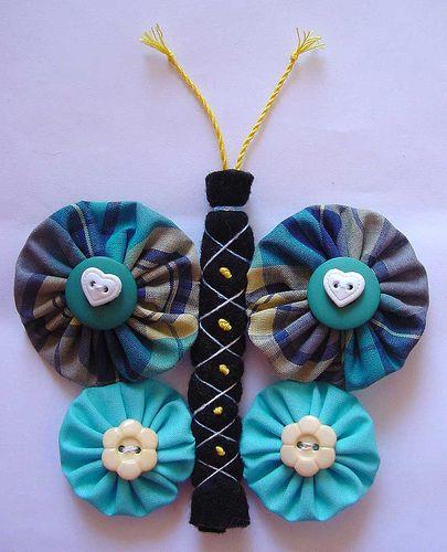 Pufferfly by knittingand, via Flickr ... yoyo wings   #YoYo  #SuffolkPuffs