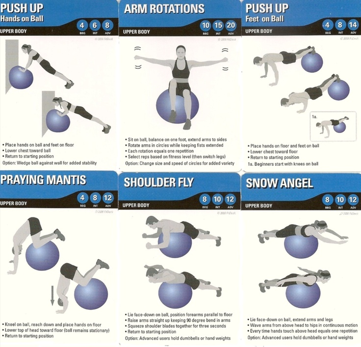 Stability Ball Upper Body Workout