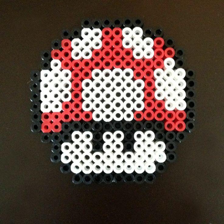 Super Mario Brothers 3 8 Bit Perler - Mushroom via eb.perler. Click on the image to see more!