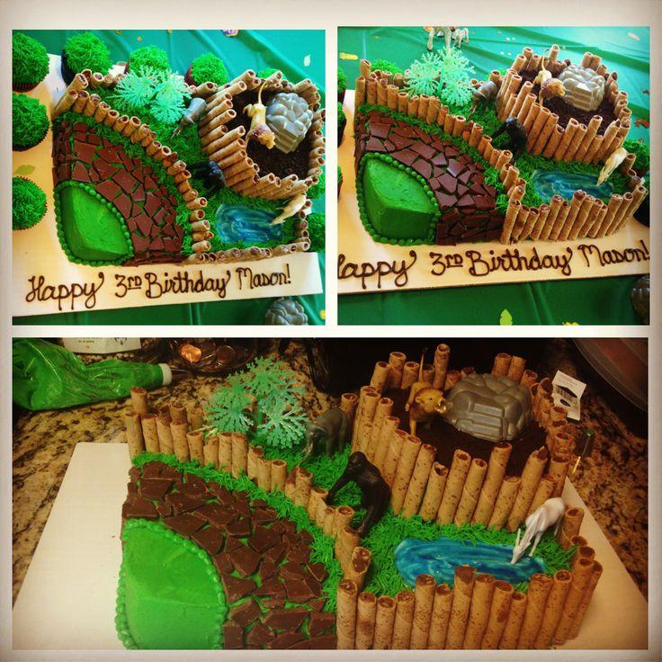 Zoo/animal themed cake