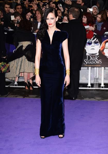 Ева грин в синем платье