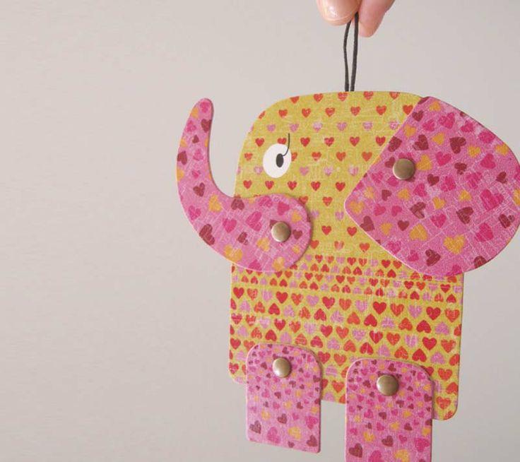 Dante elephant, articulated paper anima