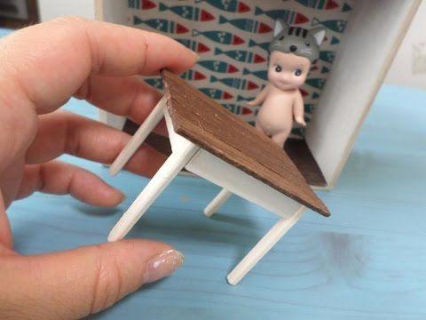 미니어쳐 액자 만들기(케이스편) 재료 다이소 상자~/miniature case/ミニチュア テーブル - YouTube