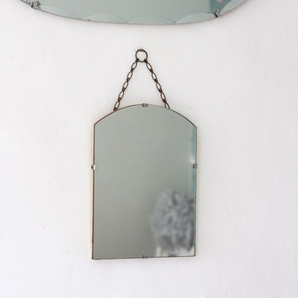 Small Vintage Frameless Mirror from The Other Duckling. This vintage frameless mirror may be small but it's cute arch shape makes it a little bit different.