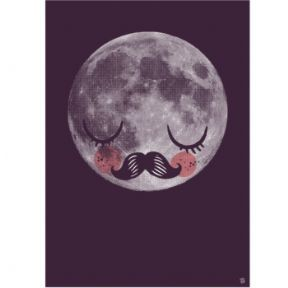 Moon poster & print for kids by Martin Krusche