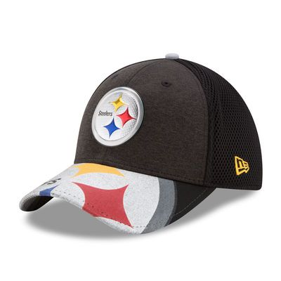 Men's New Era Black Pittsburgh Steelers 2017 NFL Draft On Stage 39THIRTY Flex Hat
