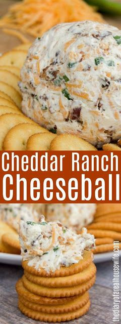 Cheddar Ranch Cheeseball – Cooking Recipes #cake #appetizer #dessert #chicken #k…