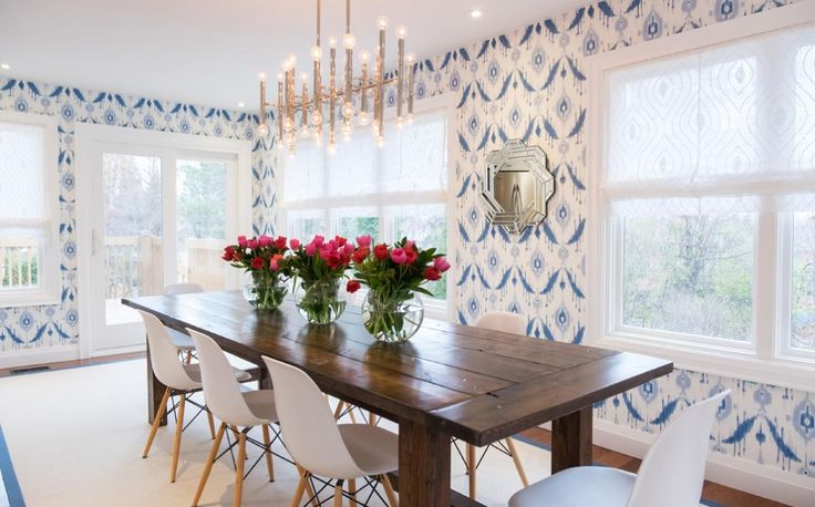 Property Brothers Season 5, Episode 19: Love the patterned wallpaper.  I love this wallpaper!! I need to know the name and mfg!!