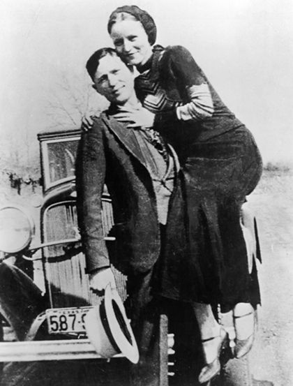"1930s, bonnie and clyde  ""you can run, you can hide.. just like Bonnie & Clyde.."""