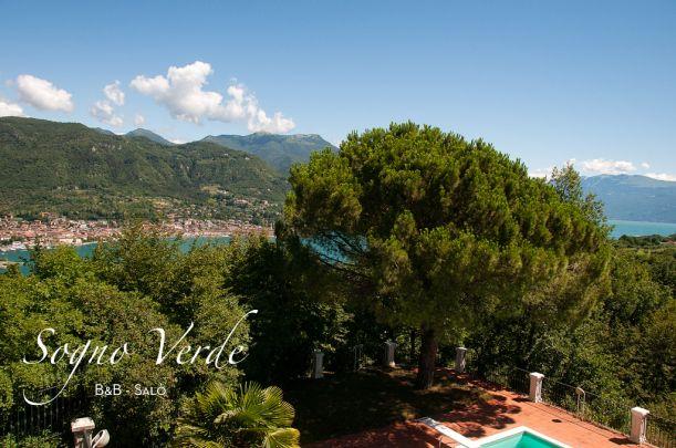 Stunning view from the Master Bedroom.  Sogno Verde B&B Salò, Lake Garda