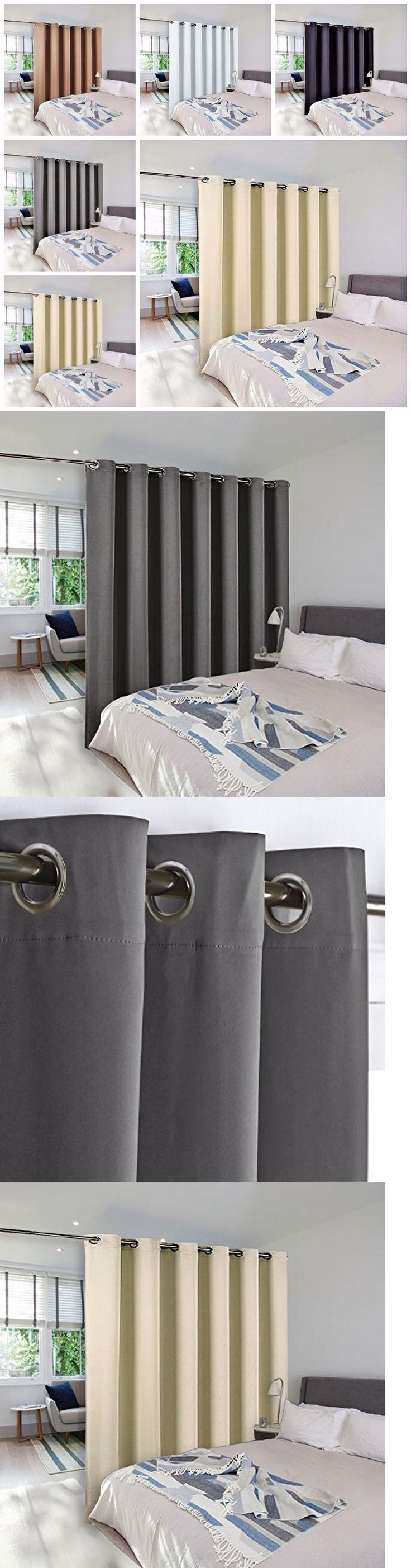 Curtains Drapes and Valances 45515: Panel Curtain Room Divider Partition Screen Grommet Blackout Curtain Panels -> BUY IT NOW ONLY: $149.99 on eBay!