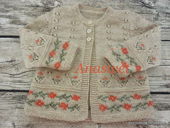Pattern baby cardigan/Knitted baby cardigan/Baby by AnaSwet