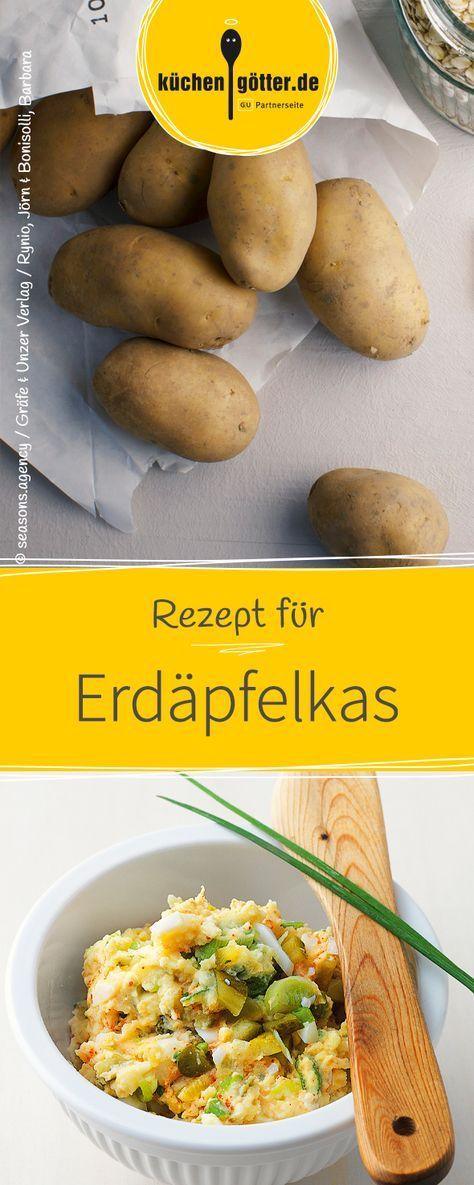 Die perfekte Brotzeit auf der Münchner Wiesn ist Erdäpfelkas. Wir haben das Rezept für dich.