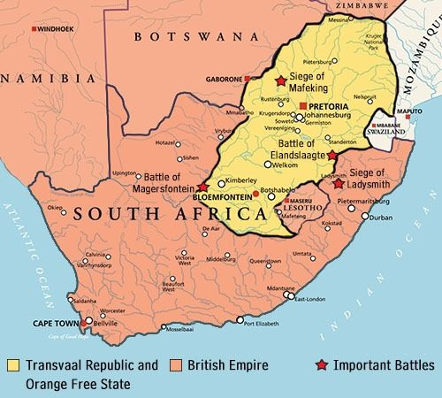 Boer War Map