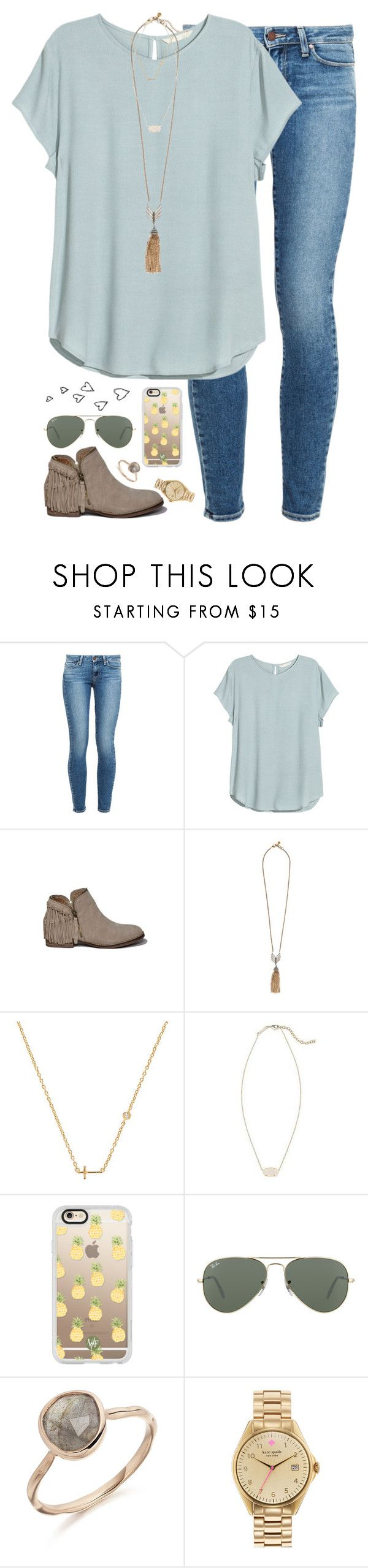 """""""when you realize your bf has the same basketball number as Michael Jordan"""" by kaley-ii ❤ liked on Polyvore featuring Paige Denim, Abercrombie & Fitch, Lulu Frost, Sydney Evan, Kendra Scott, Casetify, Ray-Ban and Kate Spade"""