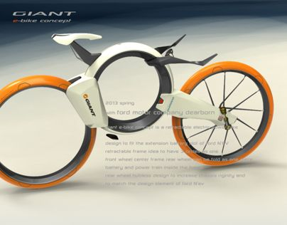 Giant folding electric bike