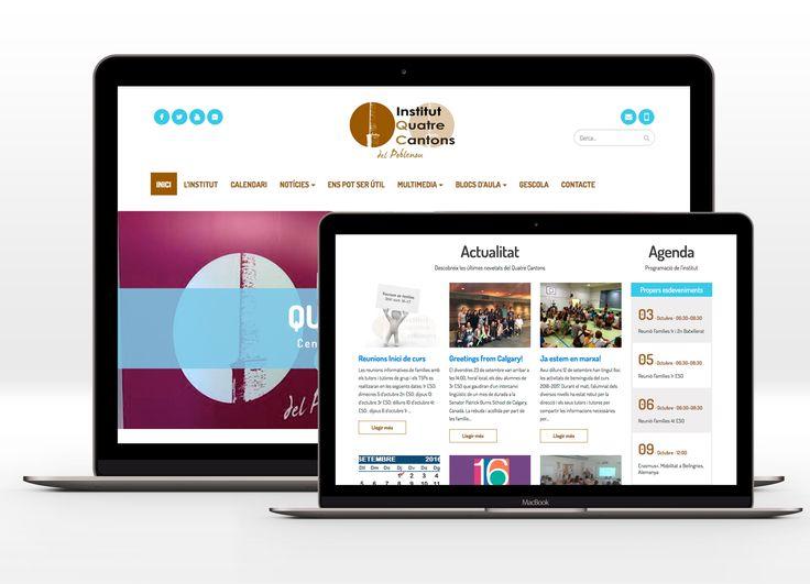 Web para 4 Cantons - Centre públic d'educació secundaria #4cantons #bcn #laende #web #webdesign