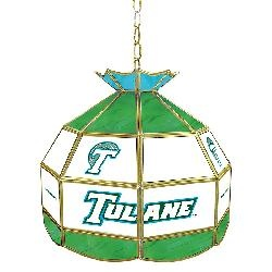 Tulane University Stained Glass Tiffany Lamp - 16 Inch