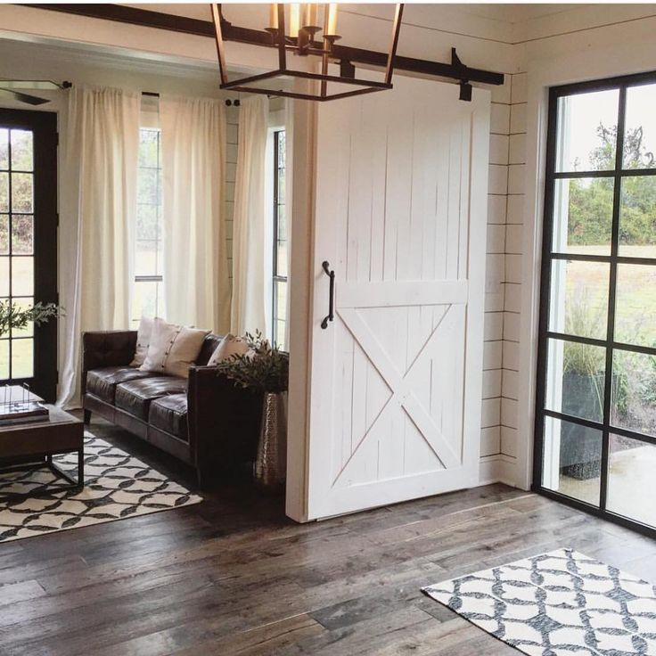 """Love, love, love this photo from @joannagaines ' instafeed! We are hoping to do a similar sliding barn door on our mudroom in our new entryway."""