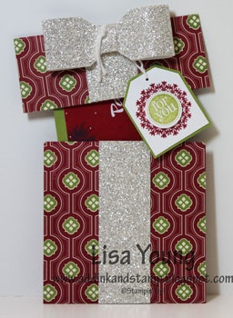 Add Ink and Stamp: Last Minute Glittery Gift Card Holders