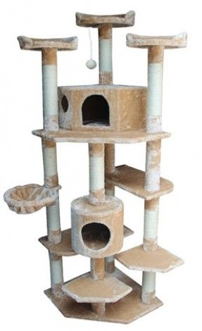 Good Large Corner Cat Tower Overall Size 25 L X