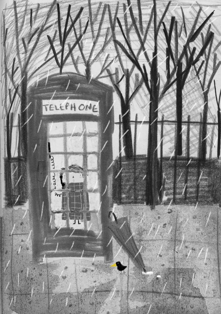 ''a very important phone call'' illustration by zafouko yamamoto