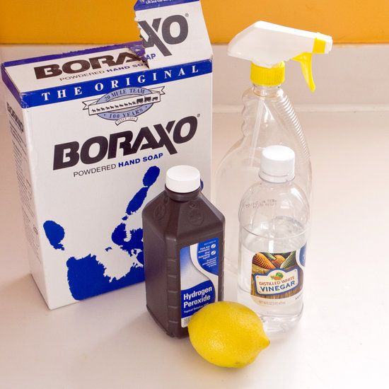 Homemade All-Purpose Cleaner 1/2 cup vinegar, 1 tbs borax, 1 tbs peroxide, 2 cups hot h2o, juice of 1 lemon, a few drops of essential oil