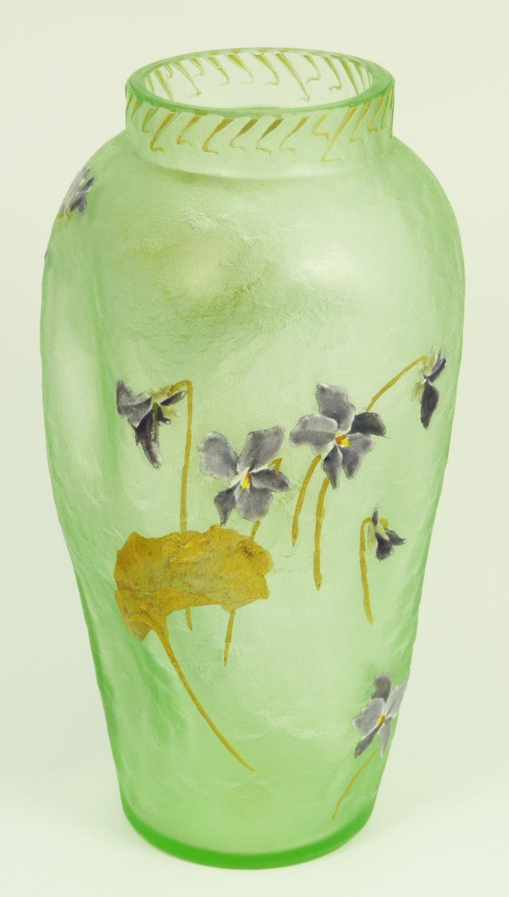 663 best different kind of vases images on pinterest glass vase mont joye enameled green art glass vase reviewsmspy