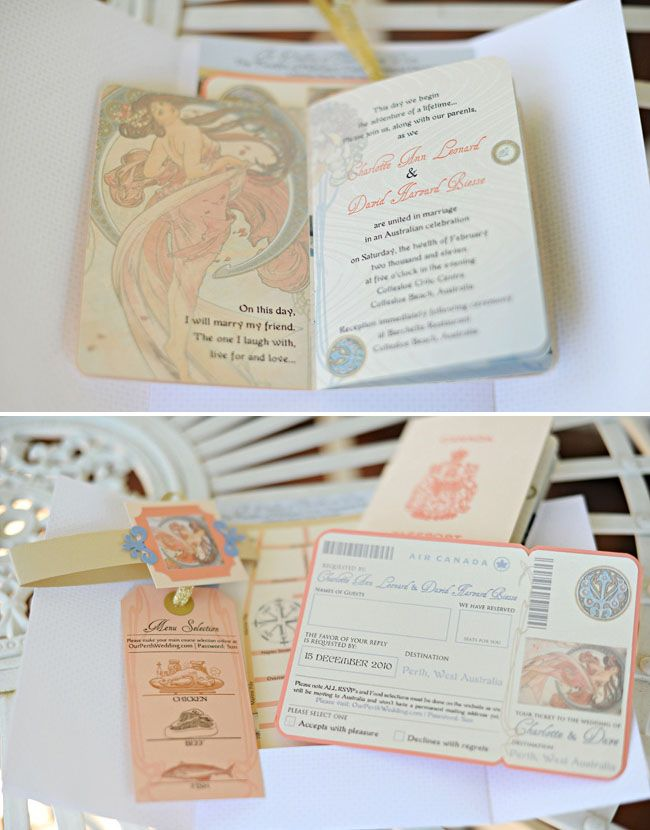 Absolutely love these wedding invitations to compliment