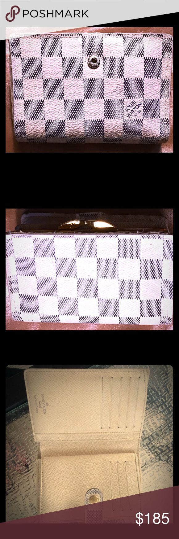 Women's LOUIS V checkered wallet Mildly worn but still very much in good condition.  Has been a great wallet... highly recommended from the LV collection. Louis Vuitton Bags Wallets