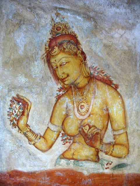 Fresco paintings at Sigirya Rock, Sri Lanka #Sri #Lanka #Travel