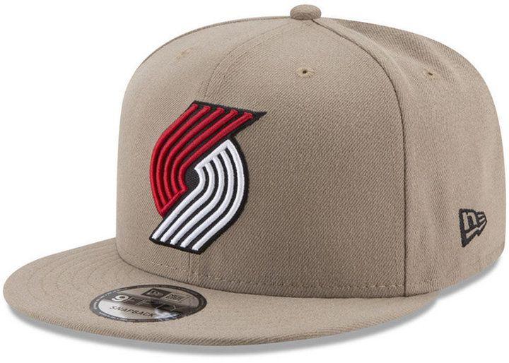 New Era Portland Trail Blazers Tan Top 9FIFTY Snapback Cap ... db4377c4e76c