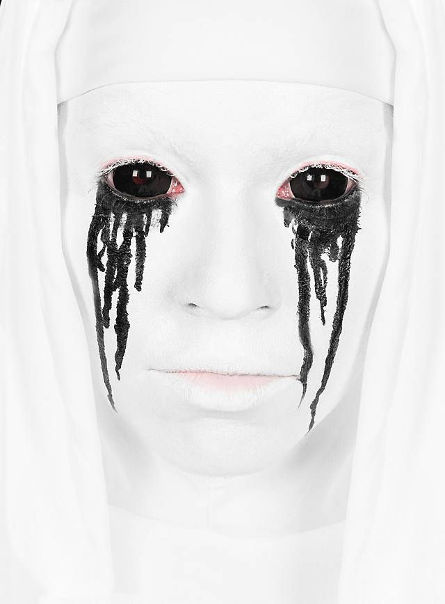 Sclera schwarz Kontaktlinsen / Black Sclera Contact Lenses  #halloween #make-up #black #horror #amercianhorrorstroy