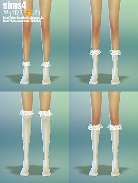 Fix!!!! female lace socks set at Marigold via Sims 4 Updates