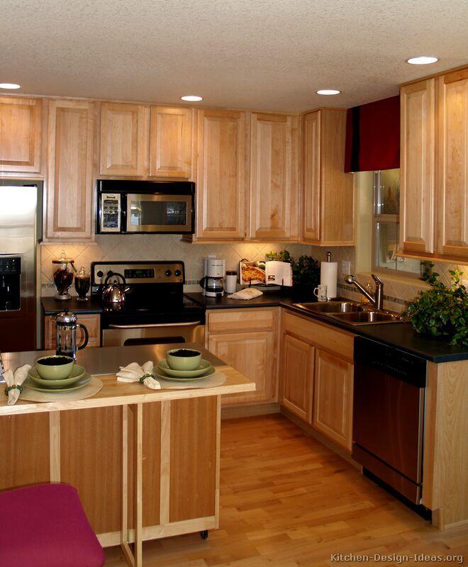 25 best kitchen designs images on Pinterest   Kitchen ... on Maple Cabinet Kitchen Ideas  id=92043