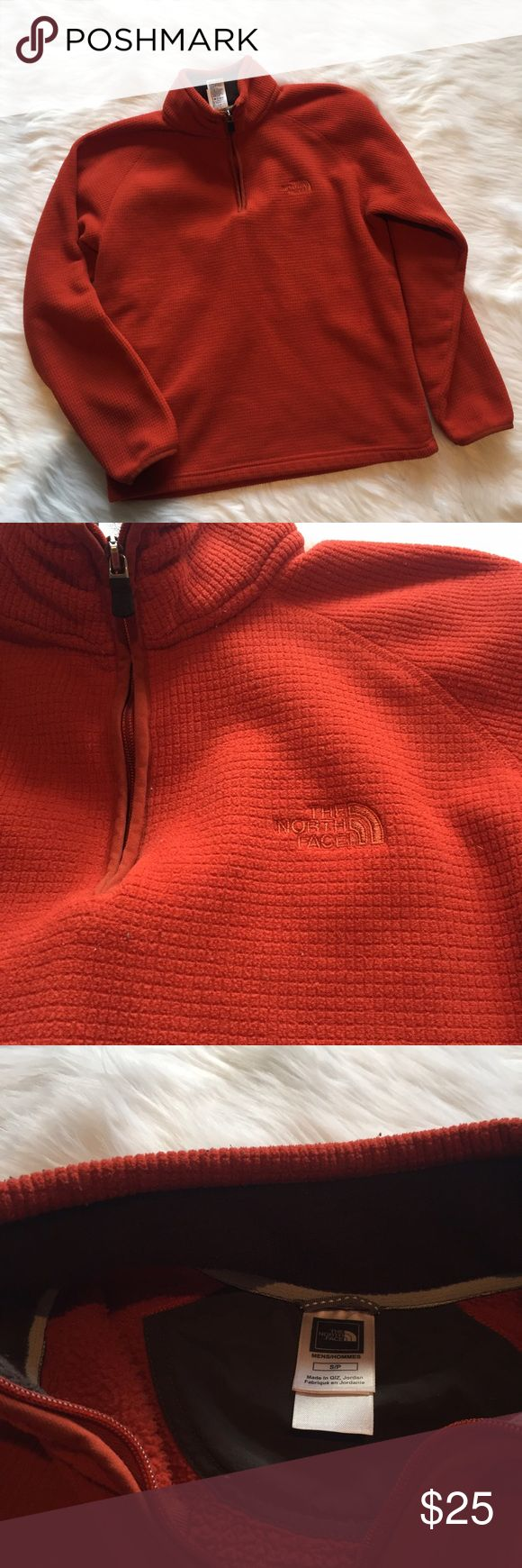 🆕 The North Face Orange Pullover Fleece The North Face Orange Pullover Fleece. Textured. Burnt orange color. Warm and cozy. Could be worn as a women's fleece. Great used condition, no pilling. **Smoke free home. Ask questions. Bundle to save both on shipping and total price. Serious and reasonable offers only (no more than 10% of listing price). Not interested in trades ATM. Sharing is caring!** The North Face Shirts Sweatshirts & Hoodies
