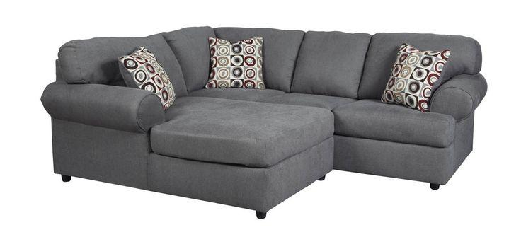 Jayceon Contemporary Steel Fabric Sectional W/RAF Sofa