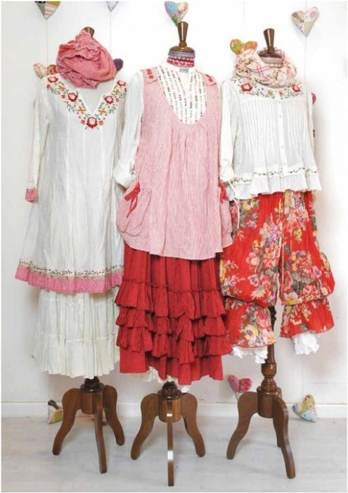 Nadir Positano - Boho Fashion Russian style* very much like mori style, but pink :)
