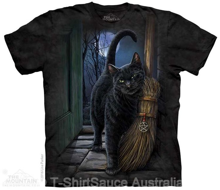 A Brush With Magic Adults Cat T-Shirt by Lisa Parker : The Mountain - 2017 Collection : T-Shirtsauce Australia: The Mountain T-Shirts