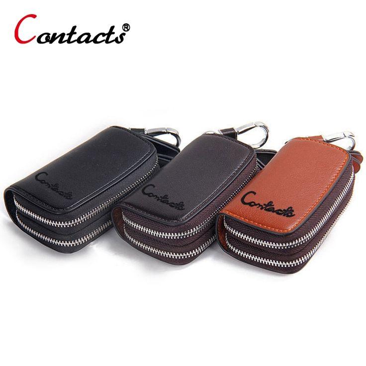 11.98$  Watch here - CONTACT'S Key Holder Bag Genuine Leather Housekeeper Key Holders Car Key Case Chain Men Wallets Organizer Key Case Housekeeper   #aliexpress