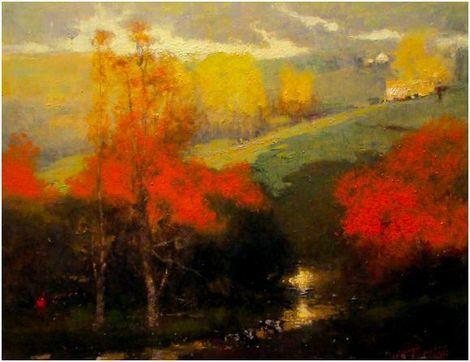 """John Terelak, """"Valley Light"""" on ArtStack #john-terelak #art"""