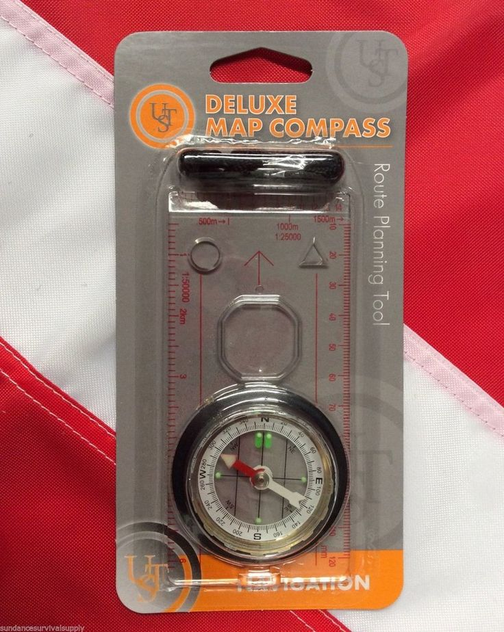 Deluxe Map Compass navigation tool  bugoutbag disaster camping prepper GIFT UST