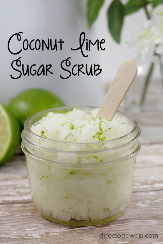 Coconut Lime Sugar Scrub made with Young Living Essential Oils - DIY Gift Idea