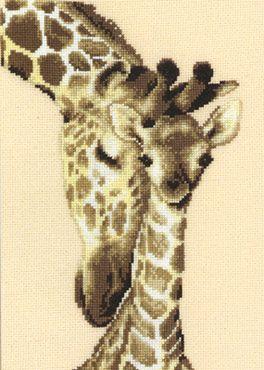 Giraffe Family da Vervaco - Seppia Collection - Kit Ricamo - Casa Cenina